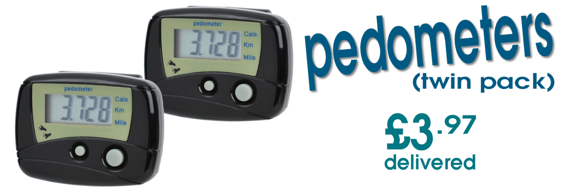 Twin Pack LCD Pedometers