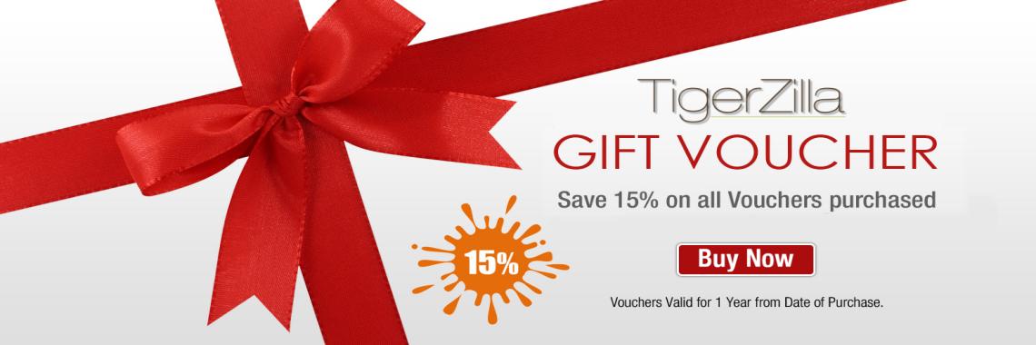 15% Off TigerZilla Gift Vouchers