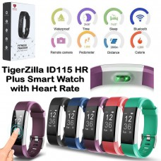 ID115 HR Plus Fitness Tracker Smart Watch with Heart Rate Monitor