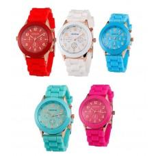 Unisex Silicone Soft Gel Quartz Watch for Girls/Boys