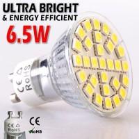 4-48 Packs of LED Bulbs: GU10, 220v, 6.5W