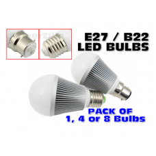 LED Bulbs: E27 / B22, 5W Day White
