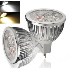 LED Bulbs: Dimmable GU10/MR16 12W (4x3W)