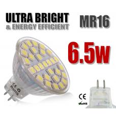 LED Bulbs: MR16, 220v, 6.5W