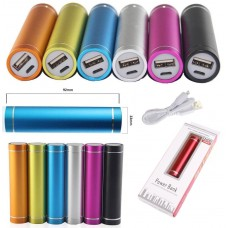 Round 2600mAh USB Portable Power Bank Charger