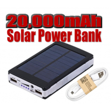 20,000mAh Solar Power Bank USB Portable Battery Charger