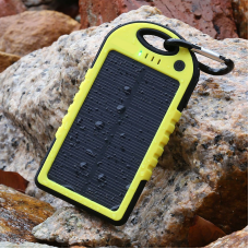 Waterproof Solar Power Bank with Dual USB Output
