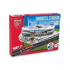 Official Licensed Arsenal Emirates 3D Puzzle Football Stadium Model