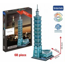 Taipei 101 Taiwan 3D Puzzle Famous Tallest Building